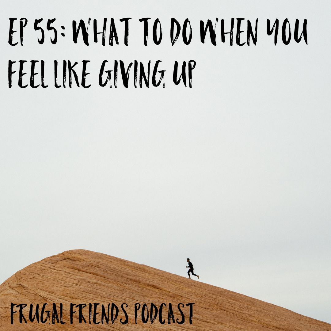 Episode 55: What To Do When You Feel Like Giving Up